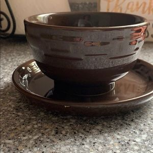 Longaberger Woven Traditions Chocolate Brown set